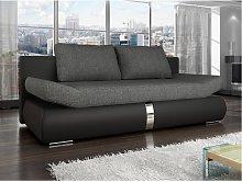 Sofá cama de 2 plazas JADEN tapizado de tela y