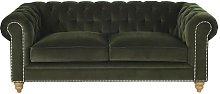 Sofá cama de 3/4 plazas de terciopelo de algodón