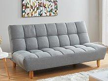 Sofá-cama de 3 plazas de tela ESTEBAN - Gris