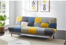 Sofá cama de 3 plazas de tela MARDAG - Patchwork