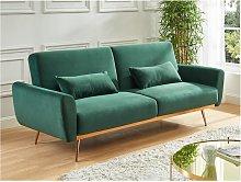 Sofá cama de 3 plazas de terciopelo LAUNEI -