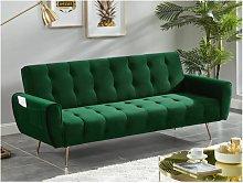 Sofá cama de 3 plazas de terciopelo POLANI -