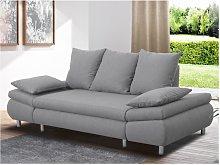 Sofá-cama de 3 plazas FELTON - Gris claro