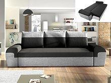 Sofá-cama de 3 plazas GABY de tela - Bicolor