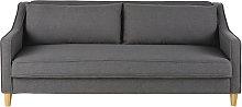 Sofá cama de 3 plazas gris topo