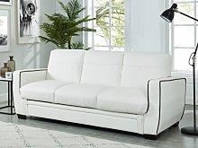 Sofá cama de 3 plazas NATY - Blanco