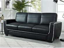 Sofá cama de 3 plazas NATY - Negro