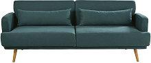 Sofá-cama de 3 plazas verde