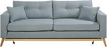 Sofá-cama de estilo escandinavo de 3 plazas azul