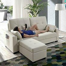 Sofa cama de masaje ® con Ottoman ECO-8220 BEIGE