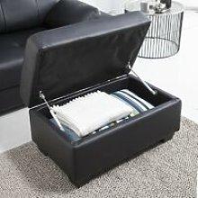 Sofa cama de masaje ® con Ottoman ECO-8220 NEGRO