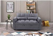 Sofá-cama de matrimonio KM-172032A gris tela