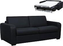 Sofá cama de piel de 3 plazas y apertura italiana