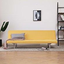 Sofá cama de poliéster amarillo - Amarillo