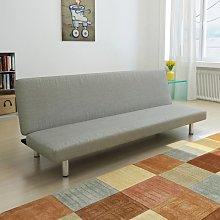 Sofá cama de poliéster gris - Gris