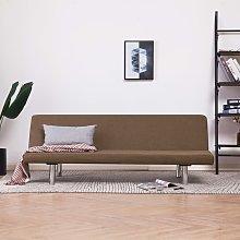 Sofá cama de poliéster marrón - Marrón