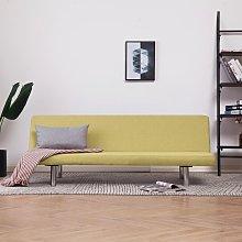 Sofá cama de poliéster verde - Verde