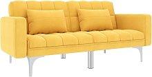 Sofá cama de tela amarillo - Amarillo