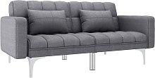 Sofá cama de tela gris claro - Gris