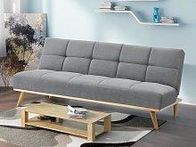 Sofá-cama de tela ORNETA - Gris