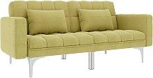 Sofá cama de tela verde - Verde