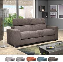 Sofá cama doble 3 plazas en tejido de estilo