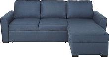 Sofá cama esquinero de 3/4 plazas azul noche