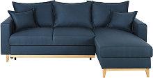 Sofá cama esquinero de 4/5 plazas azul oscuro