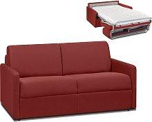 Sofá cama italiano 2 plazas de tela CALIFE - Rojo