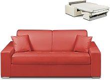 Sofá cama italiano 3 plazas piel sintética EMIR