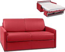 Sofá cama italiano de 2 plazas de piel sintética