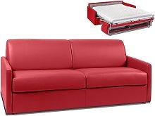 Sofá cama italiano de 4 plazas de piel sintética