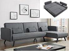 Sofá cama modular CALOBRA tapizado de tela - Gris