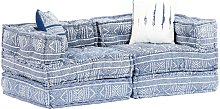 Sofá cama modular de 2 plazas tela Patchwork