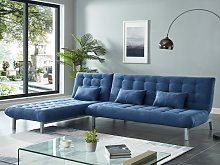 Sofá cama modular de tela HORNET - Azul
