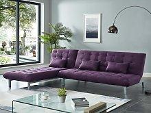 Sofá cama modular de tela HORNET - Violeta