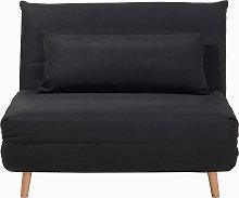 Sofá cama negro SETTEN