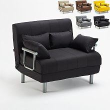 Sofá cama plegable de tela Deborah Twin   Color: