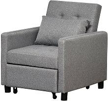 Sofá cama reclinable individual de color gris