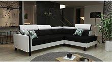 Sofá cama rinconera reversible de piel sintética