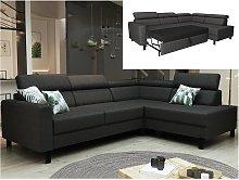 Sofá cama rinconera reversible de tela COLIAS -