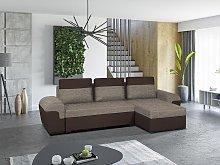 Sofá cama rinconera reversible de tela GABY -