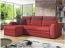 Sofá cama rinconera reversible de tela GIANY -
