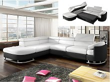 Sofá cama rinconero de piel sintética MYSEN -