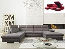 Sofá cama rinconero panorámico de tela SUNTER -