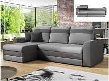 Sofá-cama rinconero y reversible GIANY  de tela -