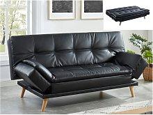 Sofá cama tipo clic-clac 3 plazas ZARINA de piel