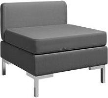 Sofa central seccional con cojin tela gris oscuro