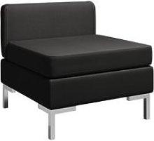Sofa central seccional con cojin tela negro