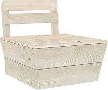 Sofa central seccional de palets madera abeto